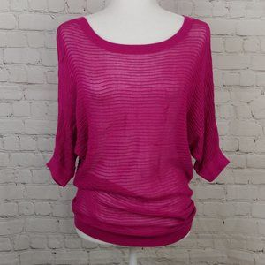 Express Dolman Fuchsia Pink Knitted Top Size XS